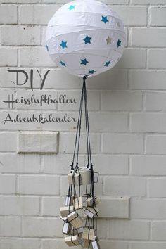 DIY | Heissluftballon Adventskalender -IKEA Regolit Lampen Hack-