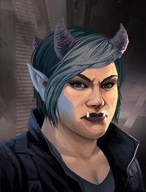 Troll Female Shadowrunners Portraits from Shadowrun Returns and Shadowrun Dragonfall.