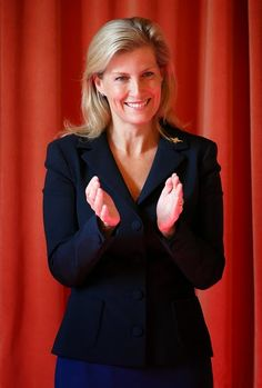 Sophie, Countess of Wessex visits RAF Wittering on 30.09.2014 in Stamford, England.