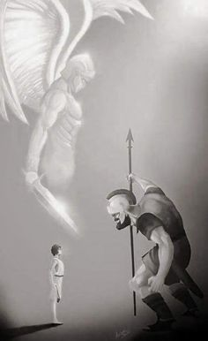 """David answered, """"You come at me with sword and spear and battle-ax. I come at you in the name of God-of-the-Angel-Armies, the God of Israel's troops, whom you curse and mock. This very day God is handing you over to me...The whole earth will know that there's an extraordinary God in Israel. And everyone gathered here will learn that God doesn't save by means of sword or spear. The battle belongs to God—he's handing you to us on a platter!"""" -1 Samuel 17:45-47"""