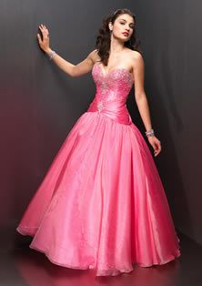 Ball Gown Sweetheart Chiffon Pink Quinceanera Dress With Beading ba1cf0a7e3d2