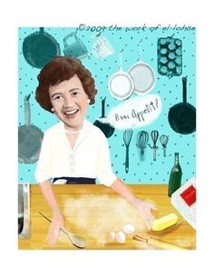 Bon Appetit  Ode to Julia Child and her favorite by elloh on Etsy, $35.00