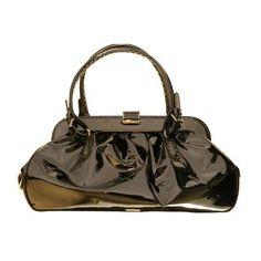 0a900200cc2 GIORGIO ARMANI - Black Patent leather doctor bag Lv Handbags, Handbags On  Sale, Louis
