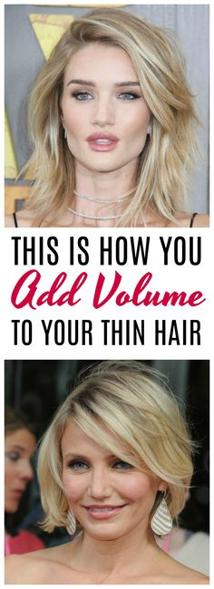 of the Best Tips for Giving Your Thin Hair Volume ways to give your thin hair volume: Are you tired of flat, lifeless hair? Gals with thin hair are always on the hunt for some easy ways to add some life to their locks. From haircut ideas to product Thin Hair Cuts, Long Thin Hair, Bobs For Thin Hair, Style Thin Hair, Haircuts For Long Hair, Cool Haircuts, Cool Hairstyles, Volume Hairstyles, Mexican Hairstyles