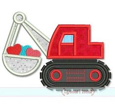 Digger Hearts Applique - 3 Sizes! | Valentine's Day | Machine Embroidery Designs | SWAKembroidery.com Lynnie Pinnie