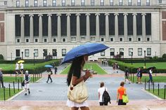 People walk on the Columbia University campus in July. The grim statistics of the college...