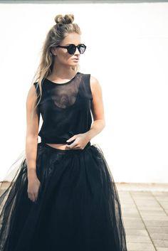Long tulle skirt Rocking ballerina Www.raine.nl