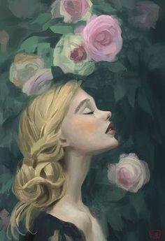 new ideas for garden rose illustration flower Painting Inspiration, Art Inspo, Art Amour, Kunst Online, Briar Rose, Love Art, Amazing Art, Art Reference, Character Art