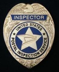 US Postal Service Inspector's Badge