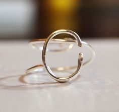 "initial ""C"" wire wrapped ring by WireNameART on Etsy https://www.etsy.com/listing/189680406/initial-c-wire-wrapped-ring"