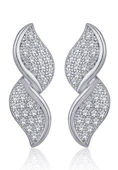 Peora Silver Earrings - Mksp - http://www.jabongworld.com/red-white-pearl-string-1041066.html