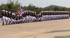 marching thai soldiers military parade human wave (2)