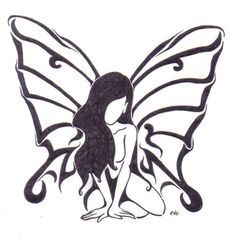 Image result for fairy tattoo design silhouette                                                                                                                                                                                 More