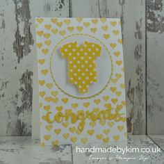 Stampin' Up! Demonstrator Kim Price - Handmade by Kim: Something for baby handmade card using a sketch from Global Design Project #GDP046