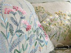 """Старá каламáрка - starakalamarka.blogspot.ru  Sadako Totsuka """"Herb embroidery on linen 1"""""""