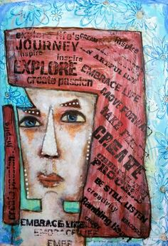 Just playing with shapes☺ Art Journal Pages, Sketchbooks, Scrapbooks, Mixed Media, Shapes, Life, Inspiration, Biblical Inspiration, Scrapbook