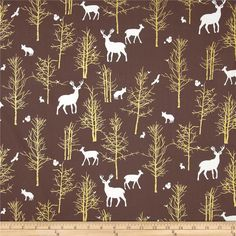 Violet Craft Brambleberry Ridge Timber Valley Metallic Bark from @fabricdotcom  Designed by Violet Craft for Michael Miller, this cotton print features metallic gold foil printing and is perfect for quilting, apparel and home decor accents.  Colors include white, brown and metallic gold.