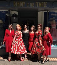 Deadly Is The Female (@deadlyfemale) • Instagram photos and videos 1950s Fashion, Vintage Fashion, Deadly Females, Trashy Diva, Pinup Couture, Vintage Branding, Wiggle Dress, Squad Goals, Swing Dress