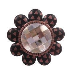 Unique Cabinet Knob/Swarovski Crystal Drawer Knob/Copper & Black Decorative Knob/Girls Dresser Knob/Bathroom Vanity Knob/Art Deco Furniture by ArtfulSparkle on Etsy