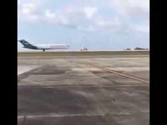 Video Guam: Boeing 727 landet ohne vorderes Fahrwerk | traveLink.
