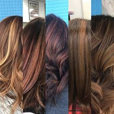 Today my client came in to brighten retouch and add more highlights. We have always kept the same base color and just switched up the toner and amount of highlights. Every time she leaves she looks totally different but doesnt damage her hair. olaplex for the win each time!!! It is easy to change your look each time you sit in my chair! #messageme #olaplex #oakparkhairstylistalmost #highlights #hairevolution #rusk : @heybonn  Great work Bonnie!