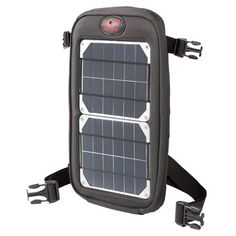 This portable charger includes a 4-watt solar panel and USB battery for powering your electronic handhelds. Outfitted with two straps for clipping onto backpacks, bikes and tents, the Fuse charges while you walk, ride or camp. One hour of sunlight will power three hours of talking time, four to five will get you a perfectly charged phone and seven will fully charge your battery. With a case fashioned from PET fabric (made from recycled soda bottles), this solar charger is rugged, waterproof