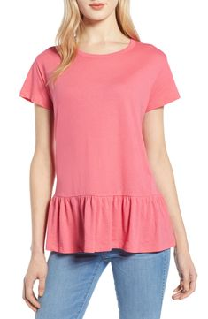 c2318b00c0c56a Caslon® Peplum Tee available at #Nordstrom