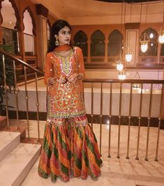 Image may contain: 1 person, standing Pakistani Mehndi Dress, Pakistani Couture, Pakistani Dress Design, Pakistani Gharara, Shadi Dresses, Indian Dresses, Indian Outfits, Pakistani Wedding Outfits, Pakistani Wedding Dresses