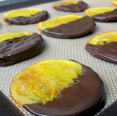 Candied oranges with chocolate