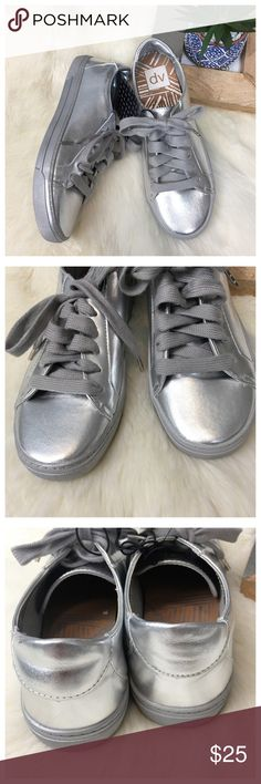 Dolce Vita dv Silver Sneakers. NWT 7.5 Dolce Vita Silver Sneakers. NWT. Size 7.5 Bundle in my closet and save. I ship same day or next day almost always! No trades 03908 Dolce Vita Shoes Sneakers