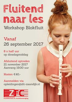 'Fluitend naar les' workshop blokfluit