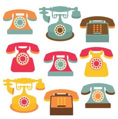 Telephone Clip Art Clipart Set  Personal and by CollectiveCreation, $4.00