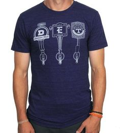 Ryan (Medium)-Men's Detroit Taps T-Shirt | Men's Clothing | There There | Scoutmob Shoppe | Product Detail