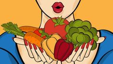 Illustration about Surprised pop art woman that holds vegetables in her hands . Comic woman with speech bubble and healthy food. Illustration of beautiful, freshness, eating - 82298201 Pop Art Food, Pop Art Women, Nature Illustration, Comic Styles, Thing 1, Kefir, Female Art, Hold On, Bubbles