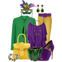 """Mardi Gras"" by justbeccuz on Polyvore"