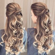 Pin by naomi de on grade dance in 2019 hair styles, bridal hair inspira Prom Hairstyles For Long Hair, Elegant Hairstyles, Pretty Hairstyles, Braided Hairstyles, Wedding Hairstyles, Simply Hairstyles, Curly Hair Styles, Pinterest Hair, Bridesmaid Hair