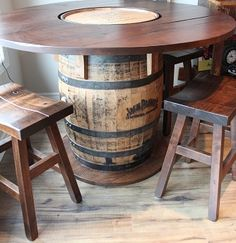 Jack Daniels Pub Table....would be nice for a patio