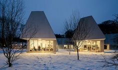 Krabbesholm Højskole By MOS Architects Architecture Awards, School Architecture, Art And Architecture, Large Windows, Windows And Doors, Mos Architects, Outdoor Art, Outdoor Decor, Floating House