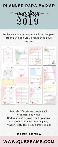 planner Monthly Planner 2018, Agenda Planner, Study Planner, Goals Planner, Erin Condren Life Planner, Planner Pages, Printable Planner, Happy Planner, Planner Stickers