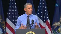 President Obama Speaks to Community Members in Flint, MI