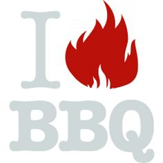 I love (flame) BBQ - Grey