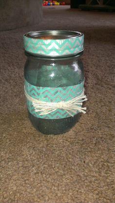 washi tape + mason jar