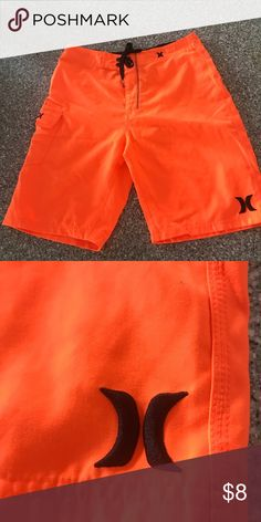 """EUC Hurley Surf Shorts 28 Great used Volcom Shorts. Son tore the Size out. But it measures a 28"""" waist. My boys love the surf brands, make sure you check my other men's and boys clothing. My boys range from 21yrs-6yrs. So I have all sizes. Hurley Shorts"""