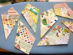 Lisa making the kites to start my Maple Leaf Rag quilt Rag Quilt Patterns, Applique Quilts, Sarah Fielke Quilts, Quilting Designs, Art Quilting, Crazy Quilting, Quilting Tips, Crumb Quilt, String Quilts