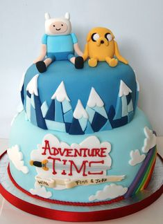 Adventure Time cake                                                                                                                                                     More