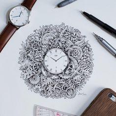 Garabatos con mucho detalle. El trabajo de Kerby Rosanes aka Sketchy Stories #drawing
