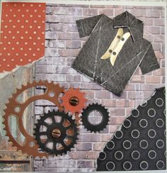 Card, Handmade Vintage Style Fathers Day or Birthday, Steampunk £2.00
