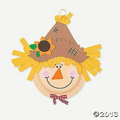 Party craft: Paper plate scarecrows (lazily) ordered from Oriental Trading (requires glue).