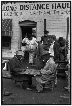 Playing checkers c.1940s