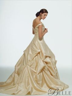 Disney Princess Wedding Dress--- Pinning this because I'll always be Belle at heart.